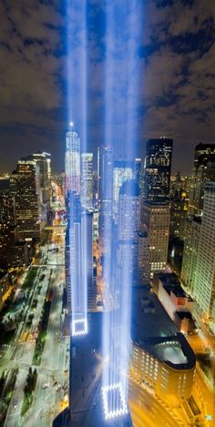 The 2011 Tribute in Light: 9/11 Memorial -by Ryan Budhu #neverforget