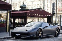 Matte black Ferrari 458 Italia!