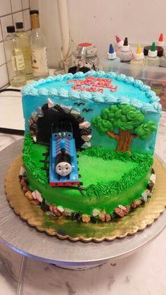 Thomas the Train stage cake