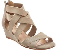 Tasteful yet trend-right, these Isaac Mizrahi Live! wedge sandals are the pinnacle of panache. Low Wedge Sandals, Low Wedges, Which Is Correct, New Outfits, Fashion Boots, Clarks, Going Out, Footwear, Qvc