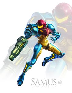 Samus Poster by WesTalbott on DeviantArt Metroid Samus, Samus Aran, Metroid Prime, Super Metroid, Video Game Art, Video Games, Female Armor, Space Pirate, Funny Tattoos