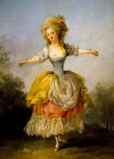 Portrait of Mademoiselle Guimard, ballerina of Paris Opera, by Frederic Schall (1752-1825). France, 18th century