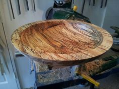 """12"""" spalted beech fruit bowl"""