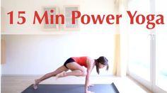 Pin it! 15 Min Power Yoga Video