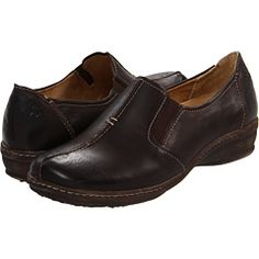 Closed in shoe to wear with trousers in winter, in black and brown (Naturalizer Malvina, not my size, Zappos.com)
