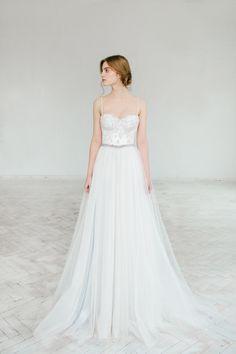 Ivory & Gray Wedding Dress Under $1000