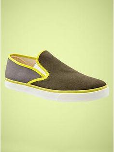 Pop-color slip on sneakers | Gap