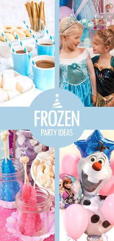 Treat your Frozen princess to a royal birthday affair! If you're planning a Frozen birthday for her, let Birthday Express help with some Frozen party ideas. Letting the guests look the part with Anna and Elsa costumes is always fun – accessories like sparkly tiaras are also great Frozen party favors. (Or, prizes for Frozen party games!) Hot chocolate with marshmallows serve as perfect refreshments, and crystallized sticks of rock candy make great Frozen party food too.