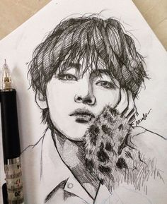 Discover recipes, home ideas, style inspiration and other ideas to try. Taehyung Fanart, Kpop Drawings, Kpop Fanart, Beautiful Drawings, K Pop, Art Inspo, Art Sketches, Art Reference, Fan Art