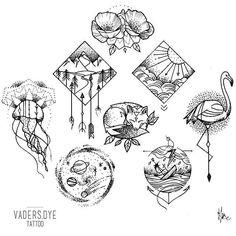 Resultado de imagem para tattoo illustration