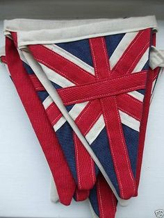 union jack bunting for jubilee tea party