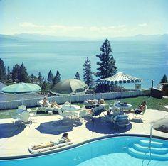 Photo Relaxing At Lake Tahoe - Slim Aarons