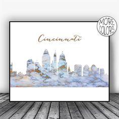 Cincinnati Skyline, Cincinnati Print, Cincinnati Ohio, Marble Art Print, Living Room Decor, Modern Art Print, Skyline Decor, ArtPrintsZoe #CincinnatiSkyline #CiySkylinePrints #SkylineDecor #ModernArtPrint #LivingRoomDecor #CincinnatiPrint #CincinnatiOhio #MarbleArtPrint #CitySkylineDecor #ArtPrint