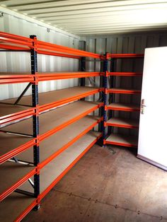 Looking for shipping container shelving for sale? Choose between new or used shipping container racking at affordable prices. Shipping Container Storage, Metal Storage Containers, Used Shipping Containers, Sea Containers, Cargo Container Homes, Container Shop, Building A Container Home, Container Buildings, Container Architecture