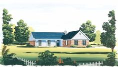 Eplans Ranch House Plan - Country Classic - 1273 Square Feet and 3 Bedrooms from Eplans - House Plan Code HWEPL05693