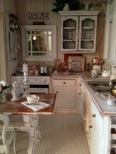 Awesome Shabby Chic Kitchen Designs, Accessories and Decor Ideas Shabby Chic Kitchen with Rustic Warm.Shabby Chic Kitchen with Rustic Warm. Shabby Chic Kitchen Decor, Shabby Chic Furniture, Vintage Kitchen, Furniture Market, Furniture Ideas, Dark Furniture, Furniture Stores, Kitchen Furniture, Garden Furniture