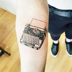 Vintage typewriter tattoo