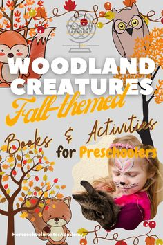 Woodland Creatures Prechool Pack September #preschool #fallpreschool #preschoolbooks #preschoolactivities #homeschool Fall Preschool Activities, Preschool Education, Homeschool Kindergarten, Book Activities, Homeschool Curriculum Reviews, Homeschool Books, Tot School, Lessons Learned, Super Simple