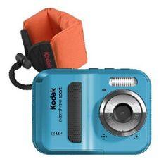 Kodak EasyShare Sport C123 12 MP Waterproof Digital Camera (Blue Bundle with Orange Float Strap)   Amazon - $70