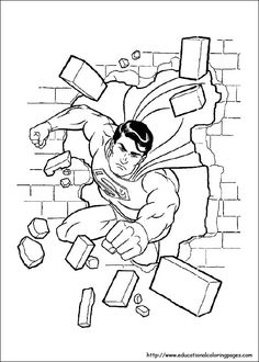 Superman Coloring Pages Avengers Marvel Crafts