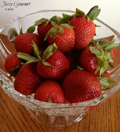 Fresh Strawberries:  How to clean, dice, cook and freeze by Jazzy Gourmet