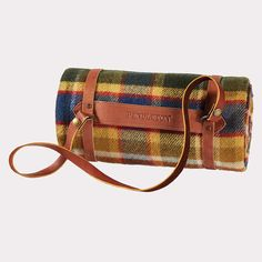 Motor-Robe with Leather Carrier Badlands Plaid African Imports, Pendleton Round Up, Kerchief, Horse Drawn, Jackson Hole, Digital Nomad, Wool Blanket, Indie, Textiles