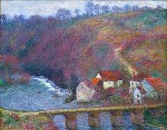 The Grande Creuse by the Bridge at Vervy - Claude Monet--1889