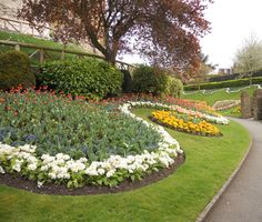 The gardens at Guildford Castle; Guildford UK 2014 - opened to the public in 1888 to mark Queen Victoria's Golden Jubilee.