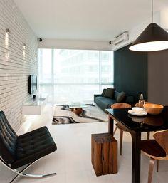 15 salas decoradas com a TV na parede