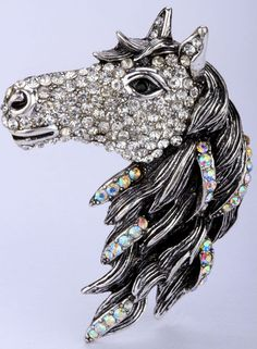 Horse Crystal Ring (Antique Plated Gold and Silver)