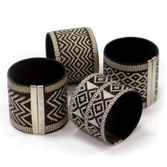 Gorgeous. Natural woven cana flecha palm leaves and sterling silver made by artisans in Colombia.