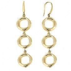 "Charles Garnier 18lt Yellow Gold Over Sterling Silver ""Tamara"" Dangle Earrings"