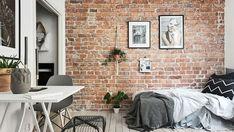 北歐 6 坪紅磚牆多肉植物公寓套房   設計王