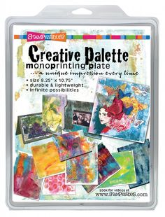 Creative Palette Monoprinting Plate Shabby Chic Stencils, Best Chalk Paint, Art And Craft Materials, Gelli Arts, Palette, Gelli Printing, Creative Teaching, Pop Up Cards, Ink Painting