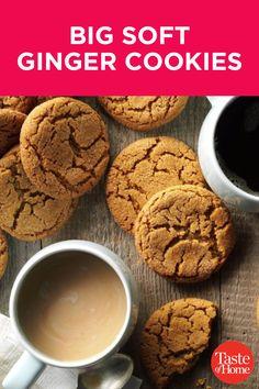 Big Cookie, Cookie Bars, Drop Cookies, Cupcake Cookies, Cookie Recipes, Dessert Recipes, Drink Recipes, Soft Ginger Cookies, Christmas Baking