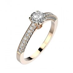 Bague Philippa - Or rose 18 cts, Diamants