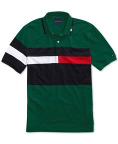 Tommy Hilfiger Adaptive Men's Rich Polo Shirt with Magnetic Buttons - Red XXL Polo Shirt Outfits, Swag Outfits Men, Nike Outfits, Tommy Hilfiger Outfit, Tommy Hilfiger Shirts, Camisa Polo, Nike Clothes Mens, Men Clothes, Swagg