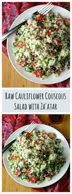 Raw Cauliflower Couscous Salad with Za'atar