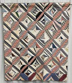 String Grid, c.1950-1975, origin unknown; collection of Roderick Kiracofe.  QuiltCon 2013 exhibit.  Posted at undercover crafter