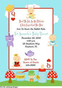 12 alice in wonderland word scramble baby shower games | baby, Baby shower invitations