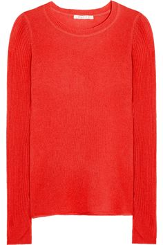 DuffyRib-sleeve cashmere sweater