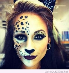 Interesting leo make-up for Halloween