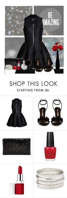 """Amazing Little Black Dress"" by divine-designer ❤ liked on Polyvore featuring Sophia Webster, OPI, Clinique, Charlotte Russe, LittleBlackDress and LBD"
