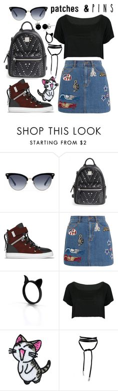 """""""Patch It, Pin It, Perfect!"""" by joslynaurora ❤ liked on Polyvore featuring Gucci, MCM, SWEAR, Marc Jacobs, WithChic, Bling Jewelry and patchesandpins"""