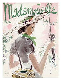 Mademoiselle Cover, July 1936   By Helen Jameson Hall