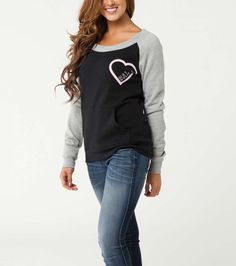 Metal Mulisha Maidens Slow It Down Fleece Wide Neck with Raglan Sleeves  #MetalMulisha #SweatshirtCrew