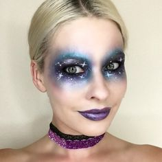 Paint a sketch of stars across your face for the dreamiest, out-of-this-world look to hit Earth this Halloween.