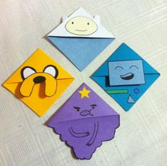 Adventure Time Corner Bookmark by CornerBookMarks on Etsy, $4.00