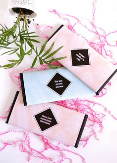 Printable Chocolate Wrappers for Mother's Day