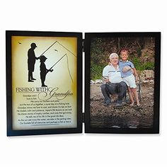 Jewelry Best Seller Fishing with Grandpa Sentiment 5x7 Black Photo Frame